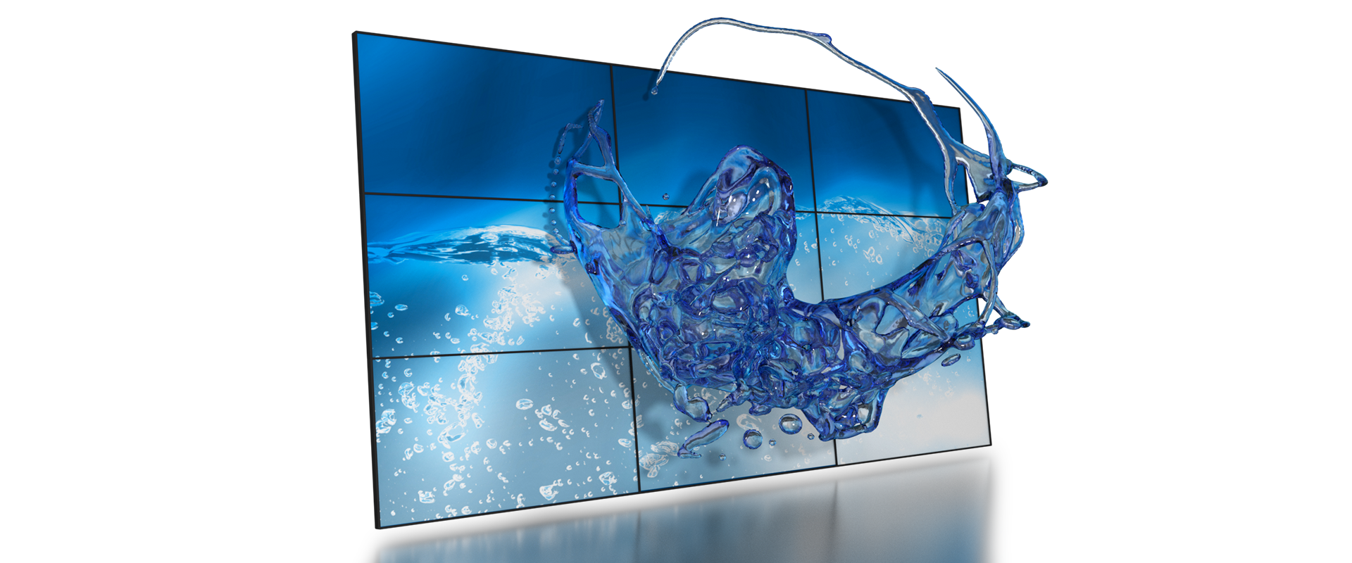 Glasses-free 3D video walls